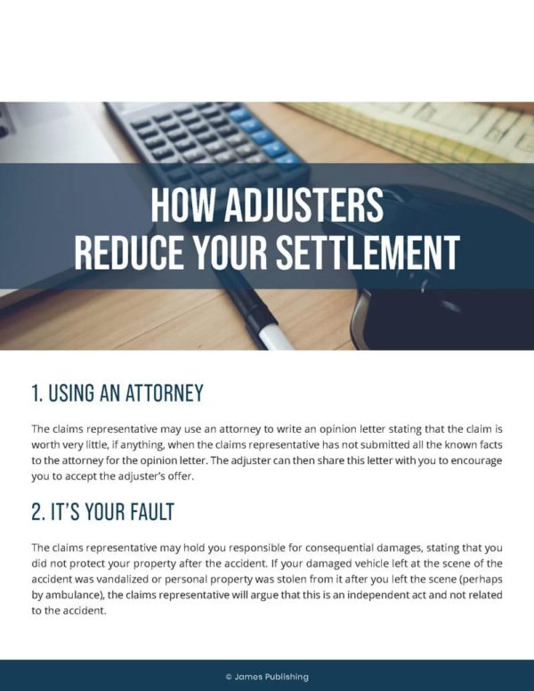 How insurance adjuster reduce your settlement amount
