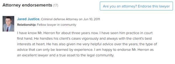 Attorney Reviews Bart Herron