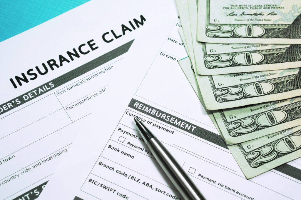 Personal Injury Settlement Insurance Concept